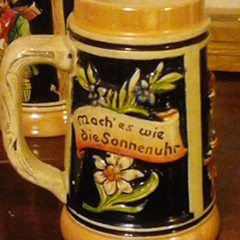 "This is 2nd entry of my beautiful 6"" German stein. I got these from my now deceased mother-in-law and she got them from her mot - Breweriana"