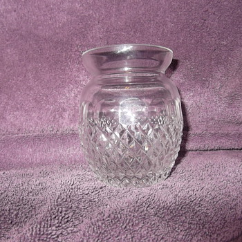 Galway crystal candle holder