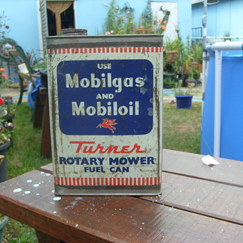 OLD MOBILGAS TIN. - Petroliana
