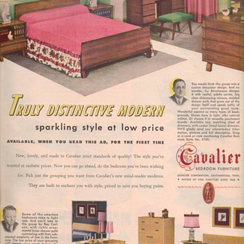 1950 Cavalier Furniture Advertisement - Advertising