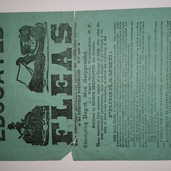1860s/1870s Signor Bertolotto's Educated Fleas Broadside  - Paper