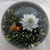 Baccarat Paperweight Frog & Lily 1981
