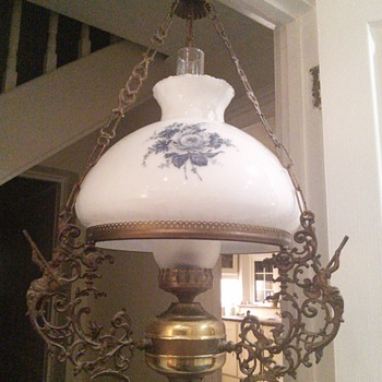 Electric oil type I think library lamp