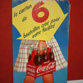 coca cola cardboard sign