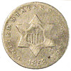 Early U.S. Type Coin: 1853 Three-Cent Piece