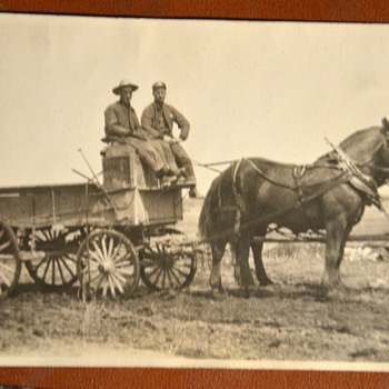 Old photos of trains, horses and wagons... - Photographs