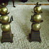 Fireplace brass andirons