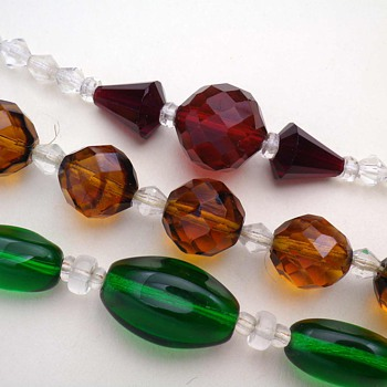 ART DECO CRYSTAL GLASS NECKLACES CZECHOSLOVAKIA