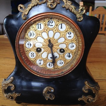 Black Waterbury Mantel Clock