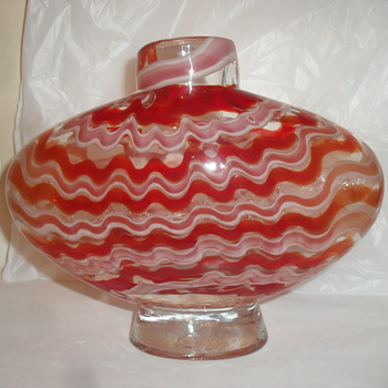 Art Glass Vase i.d please - Art Glass