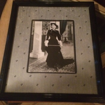 Vintage Autographed Bette Davis as Jezabel Photograph