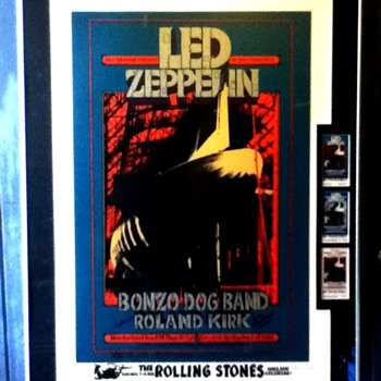 BG199 AOL Serigraph +original Tix set.-Led Zeppelin, Bonzo Dog Band  - Posters and Prints