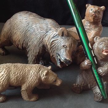 Beware of the Bears! - Folk Art