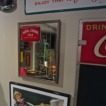 Royal Crown soda therm mirror found! - Signs