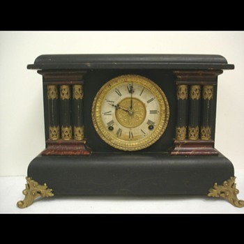 Sessions ornate vintage victorian antique famous American mantle clock