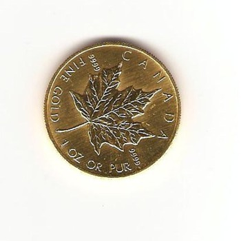$50 Gold Canadian Coin  - World Coins
