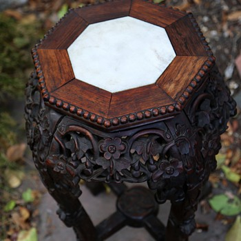 Chinese Marble-topped Table - Furniture