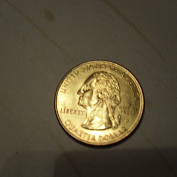 goldtone? quarter... CONNECTICUT 1999 - US Coins