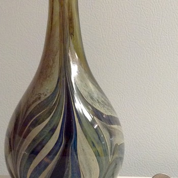 Vintage Lee Hudin Glass Vase - Art Glass