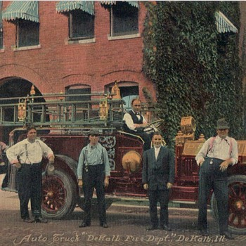 POST CARDS FIRE DEPARTMENTS