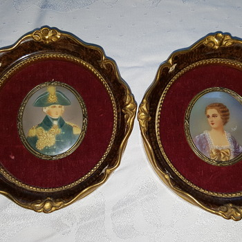 2 Victorian Antique Signed Mingrt Paintings - Victorian Era