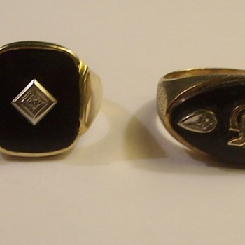 "Vintage ""Black Onyx"" Rings from the 1950's"