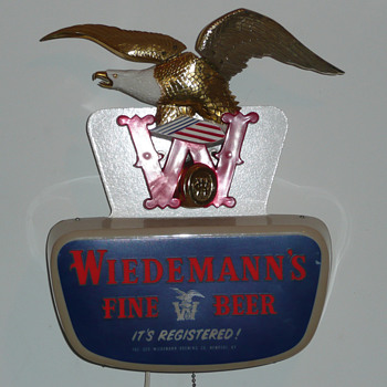 Wiedemann's Beer Eagle Light Up Motion Sign