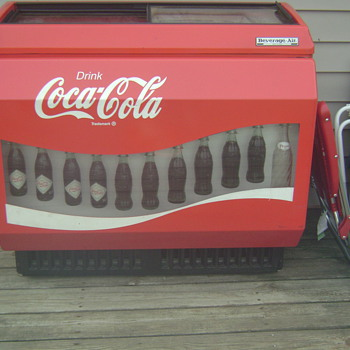 Our Vintage Coca Cola Cooler