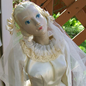 "Bridal Store Display 22"" Tall by Fashiondol / Latexture . Rare size  - Advertising"