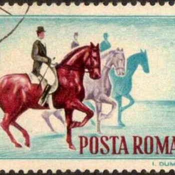 "1964 - Romania ""Equestrians"" Postage Stamps - Stamps"