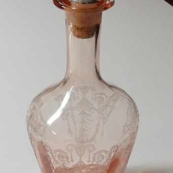 "Cambridge Glass Decanter - ""Cleo"" - Glassware"