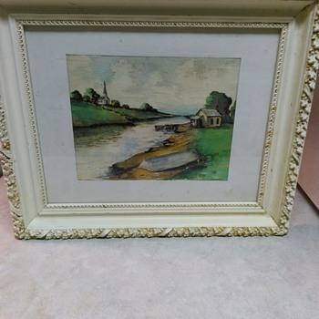VINTAGE WATERCOLOR PAINTING - Visual Art