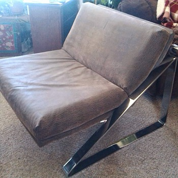 60's Mad Men Chrome Lounge Chair