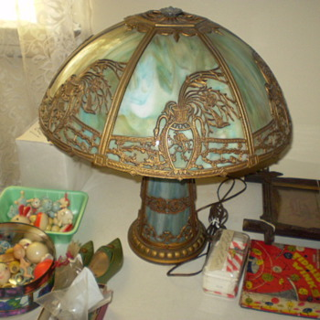 slag glass lamp need company name