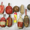 Assortment Of Old Wooden Fishing Bobbers
