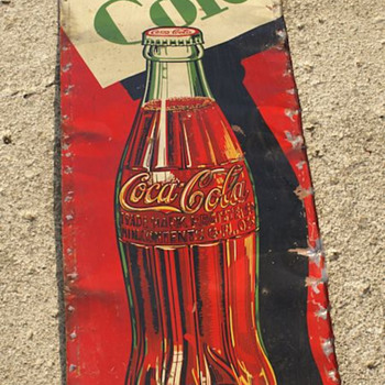 Vintage Coke Cola Sign   unusual shape - Coca-Cola