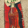 Vintage Coke Cola Sign   unusual shape