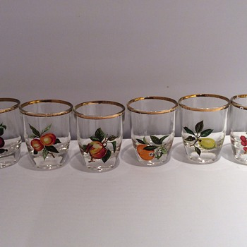 Antique / vintage French shot glasses