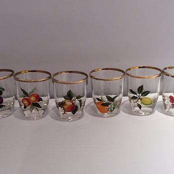 Antique / vintage French shot glasses - Glassware