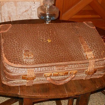 Vintage Faux Alligator Suitcase - Bags