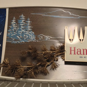 Hamm's sign/ Grain Belt clock - Breweriana