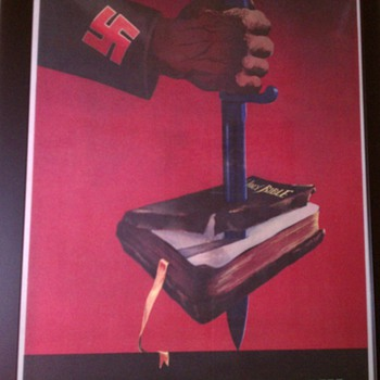 Original &quot;This is the Enemy&quot; WW II Offset Lithograph Poster
