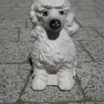 Porcelain figurine dog POODLE