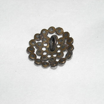 VINTAGE METAL SEWING BUTTON - Sewing