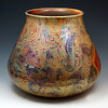 Delphin Massier Japonisme/Symbolist Ceramic Vase