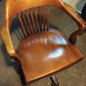 B. L. Marble Chair Company Birch Walnut Chair 5592 1/2