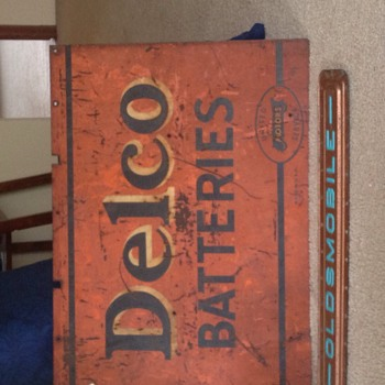 My Delco Battery double sided sign  - Signs