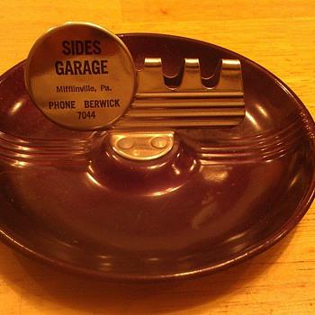 vintage garage ash tray