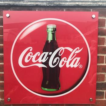 Coca Cola acrylic sign