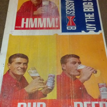 Bud Beer Advertisement found under floor